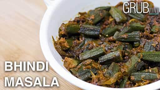 Bhindi Malai Masala recipe Grubvineweb