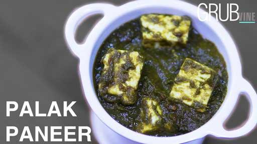 Palak Paneer recipe Grubvineweb
