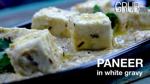 Paneer in white gravy recipe Grubvineweb