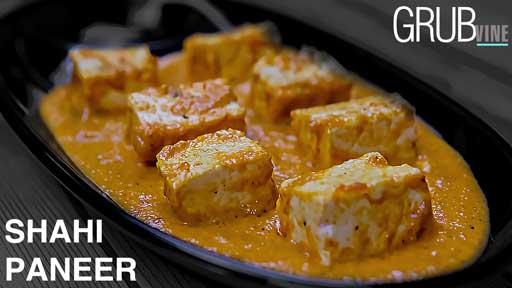 Shahi Paneer recipe Grubvineweb