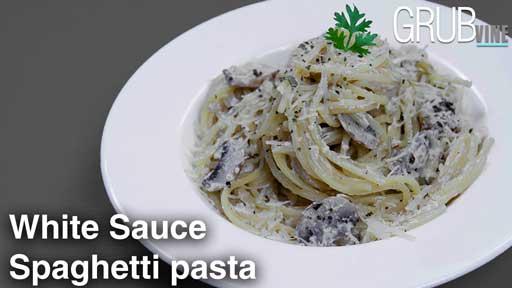 White Sauce pasta Spaghetti recipe Grubvineweb